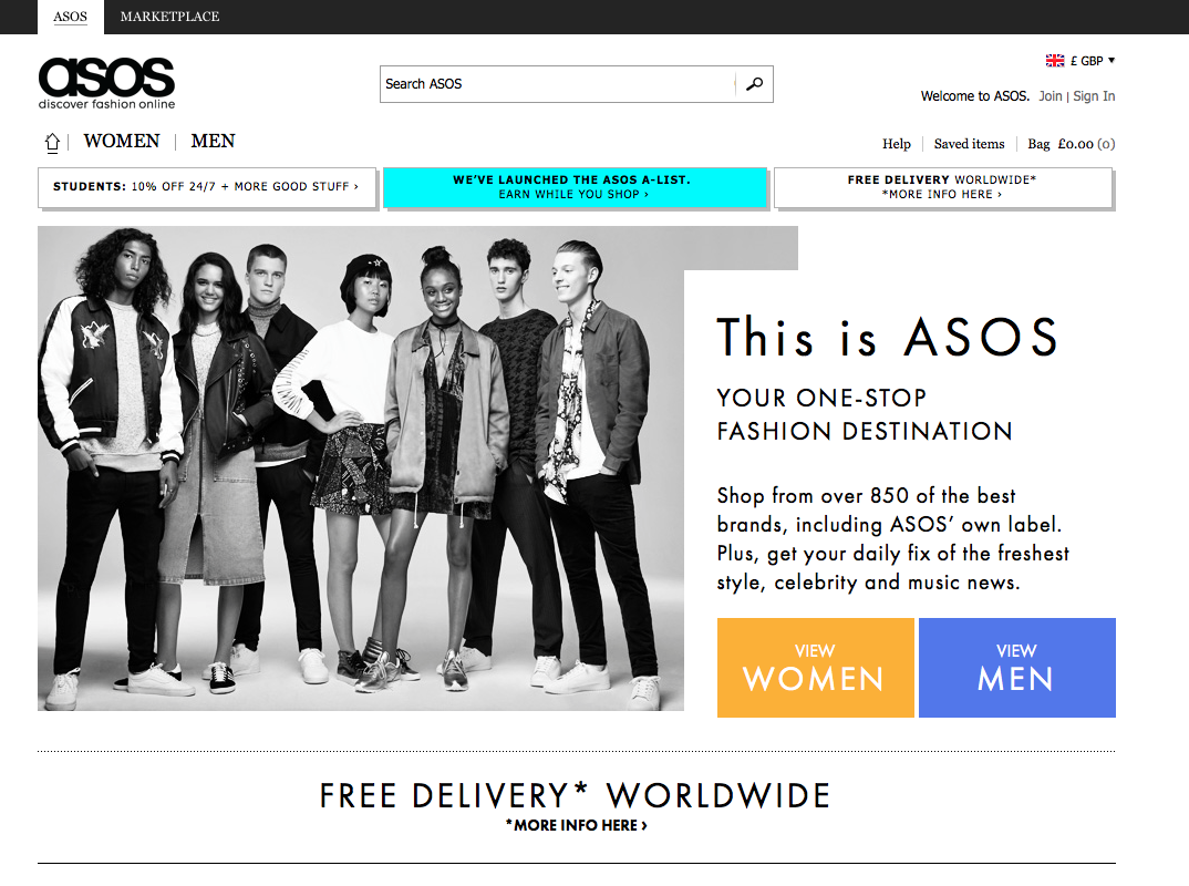Help & Information Help Track Order Delivery & Returns Premier Delivery 10% Student Discount About ASOS About Us Careers at ASOS Corporate Responsibility Investors Site More From ASOS Mobile and ASOS Apps ASOS Marketplace Gift vouchers.